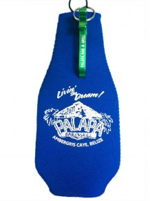 Palapa Zippered Bottle Coozie with Tree Bottle Opener